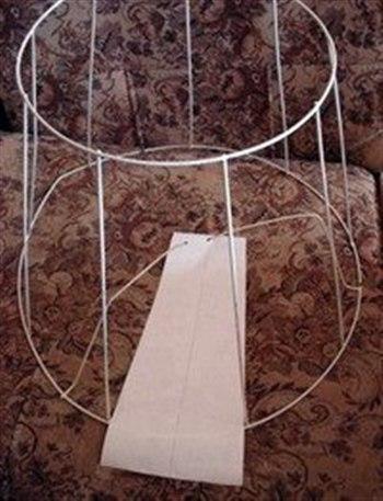 Как сделать каркас для абажура торшера своими руками