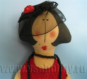 Кукла бабушка из ткани 4